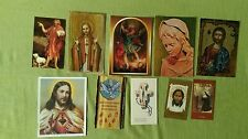 RELIC RELIQUIE HOLY CARDS SET #6 OF 30 DIFFERENT PIECES COLLECTION
