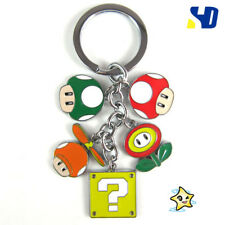 New! Nintendo Super Mario Brothers mushroom Keyring Key Ring/Chain Pendant