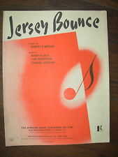 VINTAGE SHEET MUSIC - JERSEY BOUNCE - FOR PIANO UKULELE & VOICE