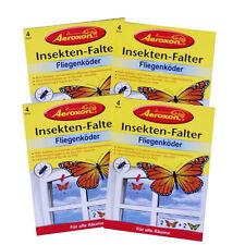 Aeroxon Insekten-Falter Fliegenfänger Fliegenfalle mit Motiv 4x 4 Stück #GB