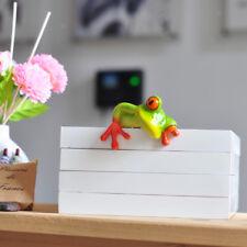 2pcs Novelty Resin 3D Craft Frog Figurine Office Desk Computer Decoration