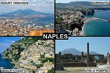 SOUVENIR FRIDGE MAGNET of NAPLES SORRENTO POMPEII AMALFI  ITALY