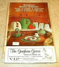 Strawberry Kitchen Kollection by The Gingham Goose - VINTAGE - NEW - Uncut