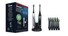 Pursonic S452BS Doble Mango Sonic Cepillo de dientes con cepillo UV Sanitizer, y 12 cabezas