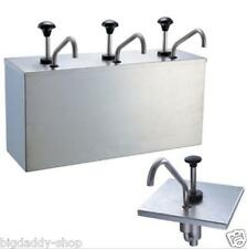 3 Bucket Sauce Dispenser Pump Squeeze Condiment Dispensing Stainless Steel S