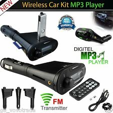 Wireless SD Car Kit Mp3 Player Radio FM Transmiter mit Fernbedienung NEU Modulator au