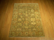 Handmade 4 x 6  Oushak Rug - Vegetable Dyes Hand Spun Very Soft Wool Rug #3120