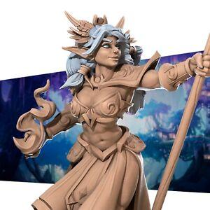 Night Wood Elf Sorcerer - Bite the Bullet - Fantasy Dungeons & Dragons Miniature
