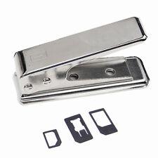 Stainless Steel Regular / Micro SIM to Nano SIM Card Cutter + 3  SIM Adapters