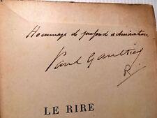 1906 PAUL GAULTIER E.O+SIGNATURE RIRE CARICATURE LIVRE ILLUSTRE DAUMIER GAVARNI