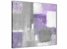 Purple Grey Painting Bathroom Canvas Wall Accessories - Abstract 1s376s - 49cm