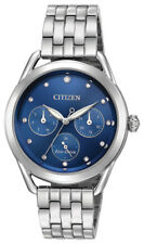 Citizen Eco-Drive Women's LTR Crystal Accents Blue Dial 37mm Watch FD2050-53L