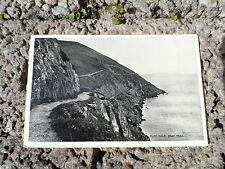 Old postcard - cliff walk Bray head - county Wicklow real photo postcard Ireland