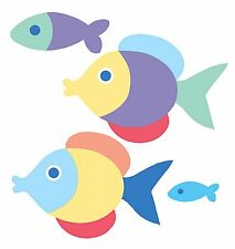 Fish Decals 25 OK Bathroom Removable Wallies Wall Stickers Blue Something Fishy