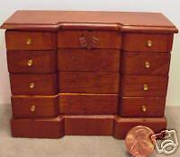 Dollhouse Miniature 1'' Scale  Walnut  Dresser
