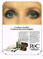 PUBLICITE ADVERTISING 0314   1978    ROC   cosmétiques  des yeux