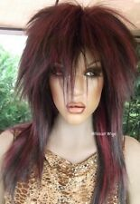 UNISEX WIG  Rock Star .Tina Turner . Black/Cranberry *