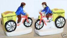 VELO TRIPORTEUR TRICYLE TRICYCLE BONNE ANNEE FETE FEVE PORCELAINE 3D 1/160 neuf