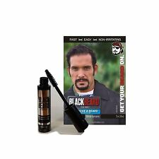 Blackbeard for Men Mens Barba Bigote Cejas Mascara temporal de color negro