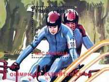 Timbre Sports d'hiver JO Bobsleigh Nicaragua BF191 ** lot 18094