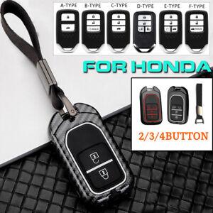 Carbon Remote Key Case Fob Cover For Honda Accord Civic CR-V Jazz Crosstour CRV