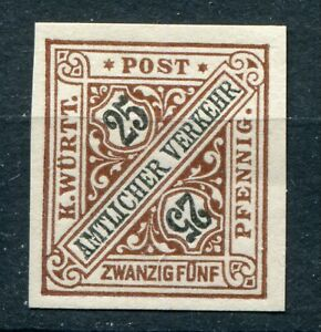 GERMANY WURTTEMBERG 1917 SCOTT O129 SCARCE IMPERF PROOF SUPERB MNH SEE SCANS