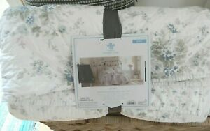 SIMPLY SHABBY CHIC BLUE SHADOW ROSE QUILT KING NWT FRENCH FARMHOUSE NEW