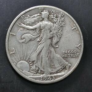 1943 D 50c Walking Liberty Half Dollar 90% Silver Legit PCGS Photograde VF Plus