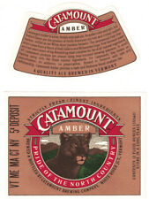 Catamount Amber with neck label Beer Label