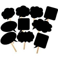 10PCS DIY Masks Photo Booth Props Wedding Birthday Party Chalkboard Decor 5Color