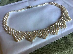 Vintage Cultured Pearl Collar Necklace