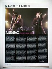 COUPURE DE PRESSE-CLIPPING :  ANTHRAX 12/2002 Scott Ian,We've Come For You All