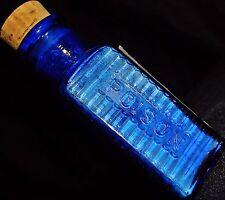 BLUE 1800'S POISON ANTIDOTE MEDICAL DEATH BOTTLE LABEL Freak Show Oddities