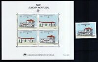 Portugal 1990 postfrisch MiNr. 1822 und Block 71 Postalische Einrichtungen