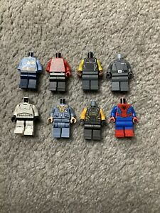 Assorted Lego Minifigure Body Headless Lot Of 8