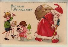 76464- Fröhliche Weihnachten, Nikolaus Weihnachtsmann Krampus Nikolo,Kinder 1934
