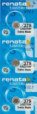 3 x Renata 379 Watch Batteries, SR521SW Battery | Shipped from Canada