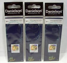 3 Packages Danielson Size 8 Gold Snelled Salmon Egg Fishing Hooks