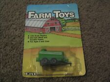 VINTAGE ERTL FARM TOYS GREEN AND WHITE FERTILIZER WATER TANK 1986 1/64 NEW FS
