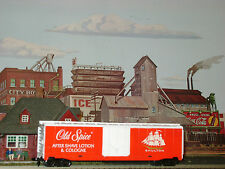 RARE ** OLD SPICE AFTER SHAVE & COLOGNE 50' BOX CAR TYCO HO Scale Trains *mint*