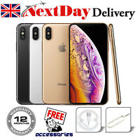 Apple iPhone XS 64GB 256GB Network Unlocked SIM Free Smartphone Silver Grey UK