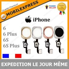 NAPPE + BOUTON HOME IPHONE 6 / 6 PLUS / 6S / PLUS BLANC/ARGENT/OR/DORE/NOIR/ROSE