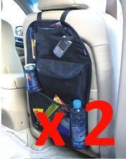 2 X asiento trasero coche van Asiento Para Niños Organizador ordenado de varios bolsillos de almacenamiento de viajar!