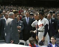 President John F. Kennedy with Mickey Vernon and Billy Hitchcock baseball Photo
