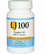 Tongkat Ali LJ100 100 to 1 Extract 25 Mg  60 Caps - Endorsed Dr. Ray Sahelian...