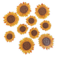 5Pcs Sunflower Sew on/Iron on Embroidered Patch Diy Craft Clothes Appli zq