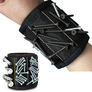 Portable Magnetic Wristband Tool Holder Nails Screws Scissors Drill Wrist Belt