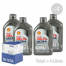 Engine Oil and Filter Service Kit 4 LITRES Shell Helix Ultra AF 5W-30 5W30 4L