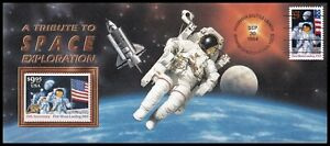 1994 USA Tribute to Space Exploration Cover with Endeavour Flown $9.95 Stamp