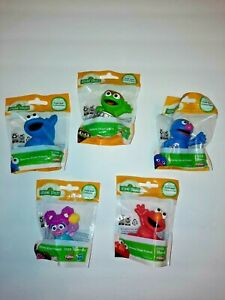 "5 Sesame Street Hasbro Collectible Figures 2.5""Elmo And Friends Playskool"